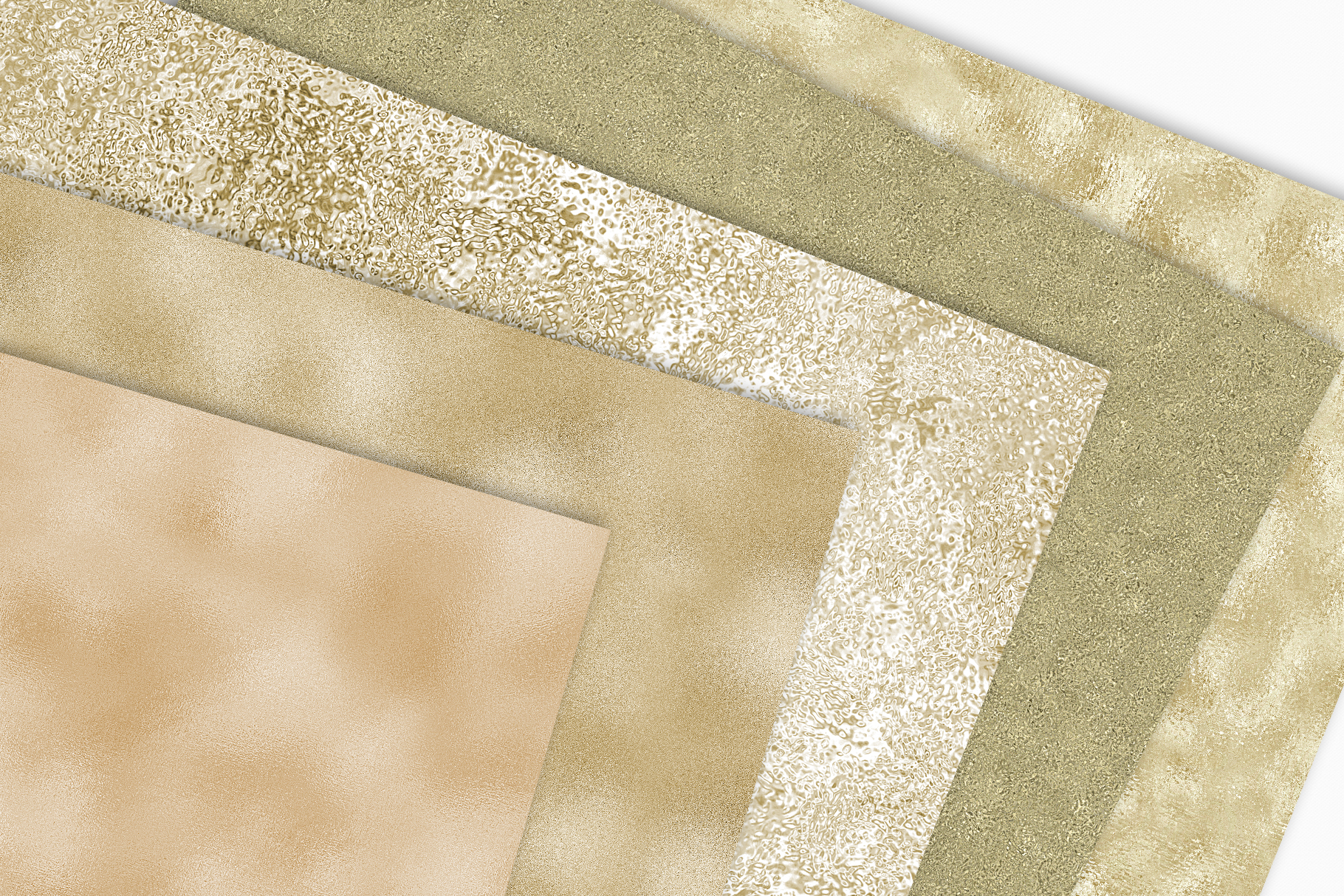 Pale Gold Foil Textures - 10 Seamless Digital Papers example image 8