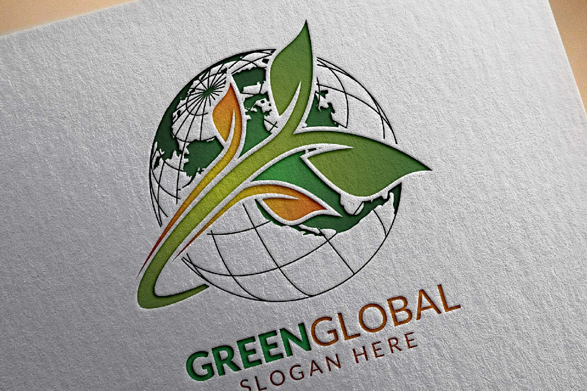 Green Global Ecology logo template example image 3