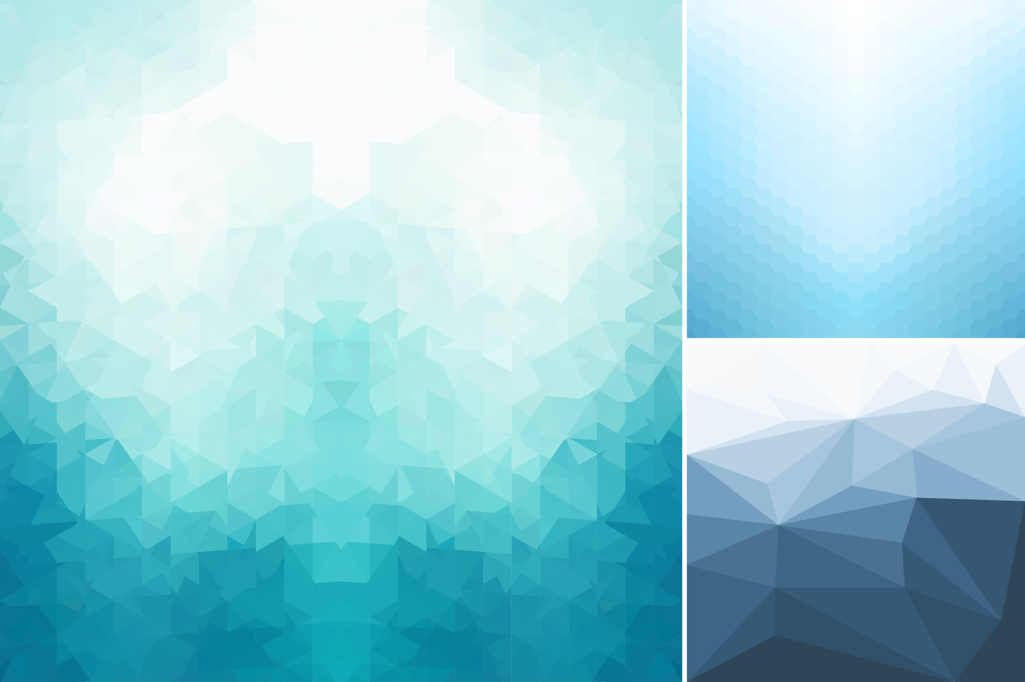 Blue abstract geometric backgrounds. example image 7