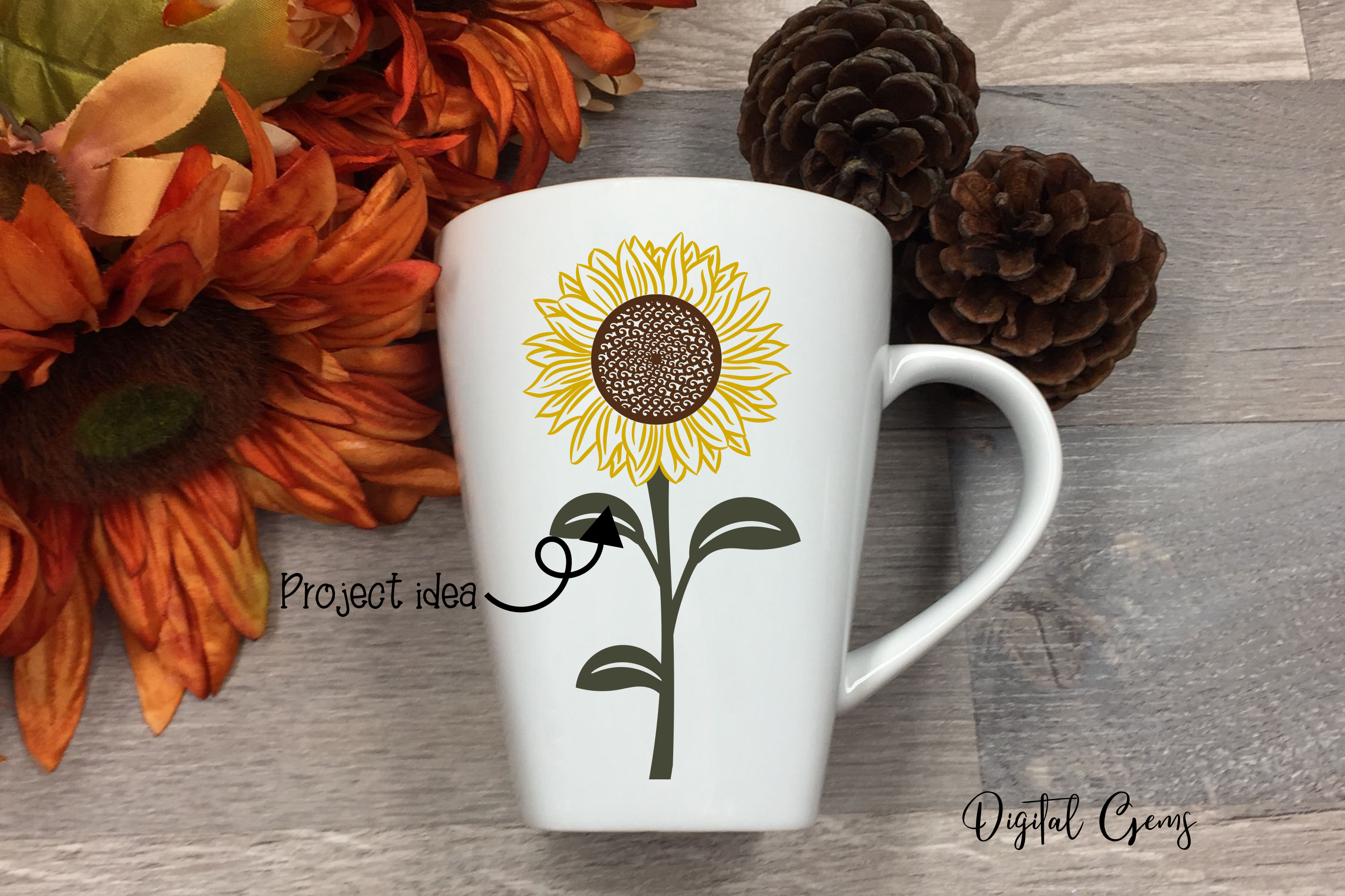 Sunflower designs SVG / PNG / EPS / DXF Files example image 4