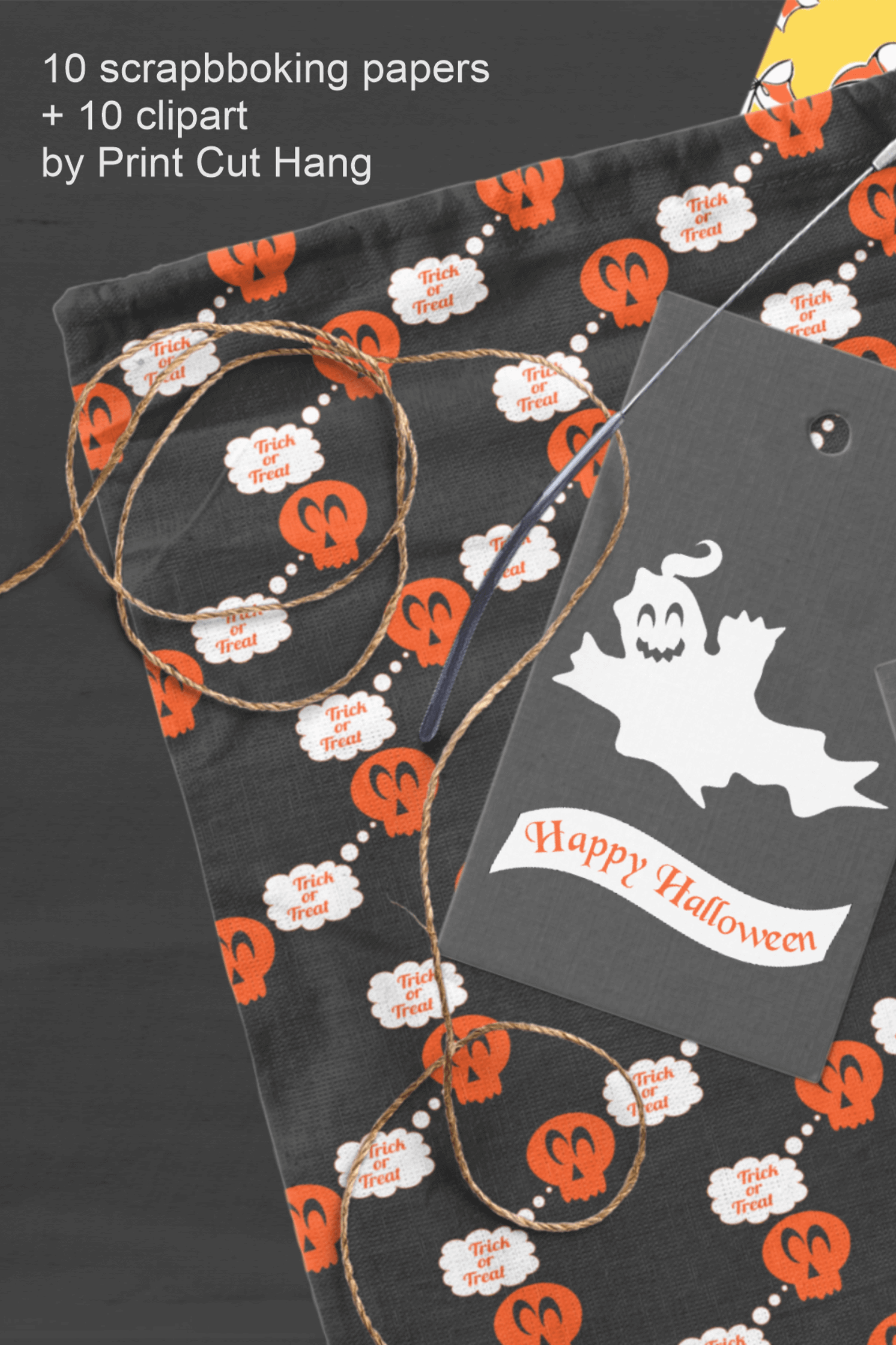 Halloween Clipart and Digital Collage Sheets Set - PNG files example image 8