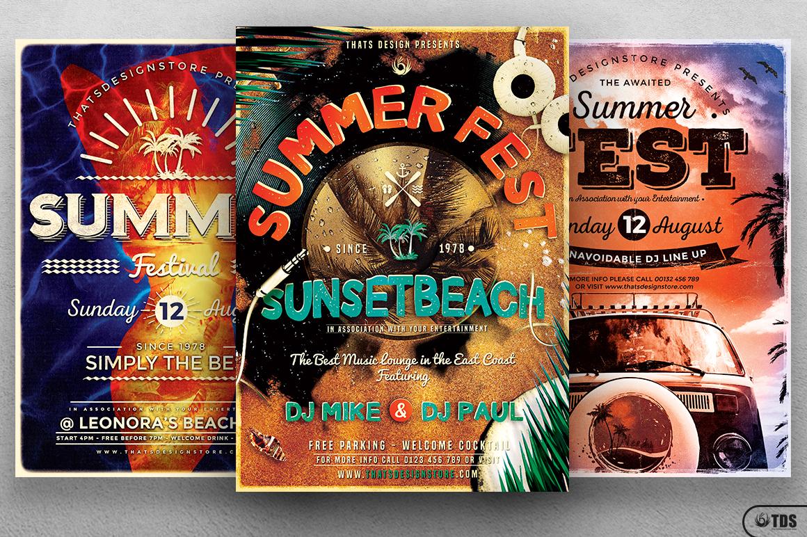 Summer Fest Flyer Bundle example image 2