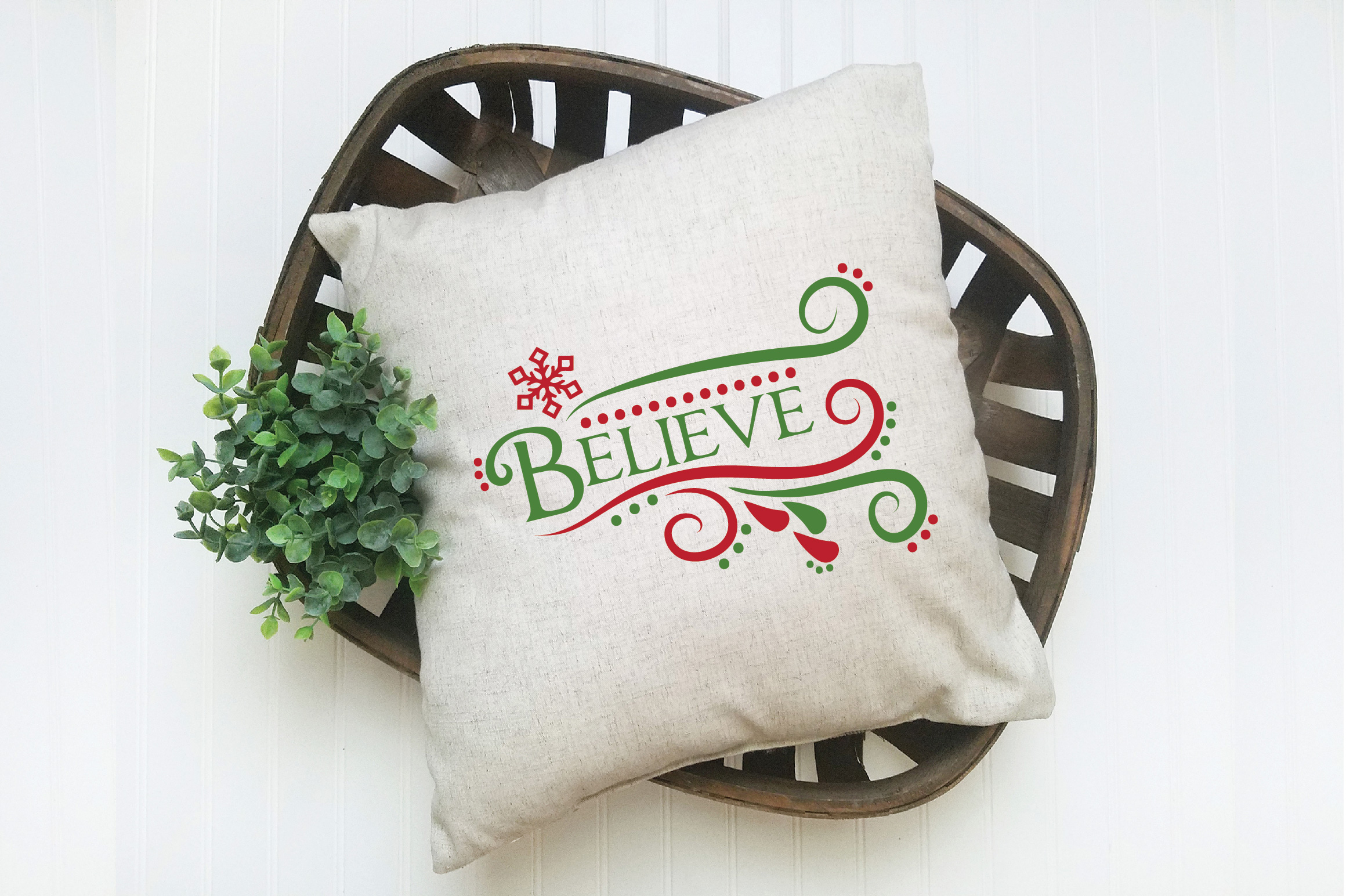 Believe SVG Cut File - Christmas SVG - DXF - PNG - EPS example image 6