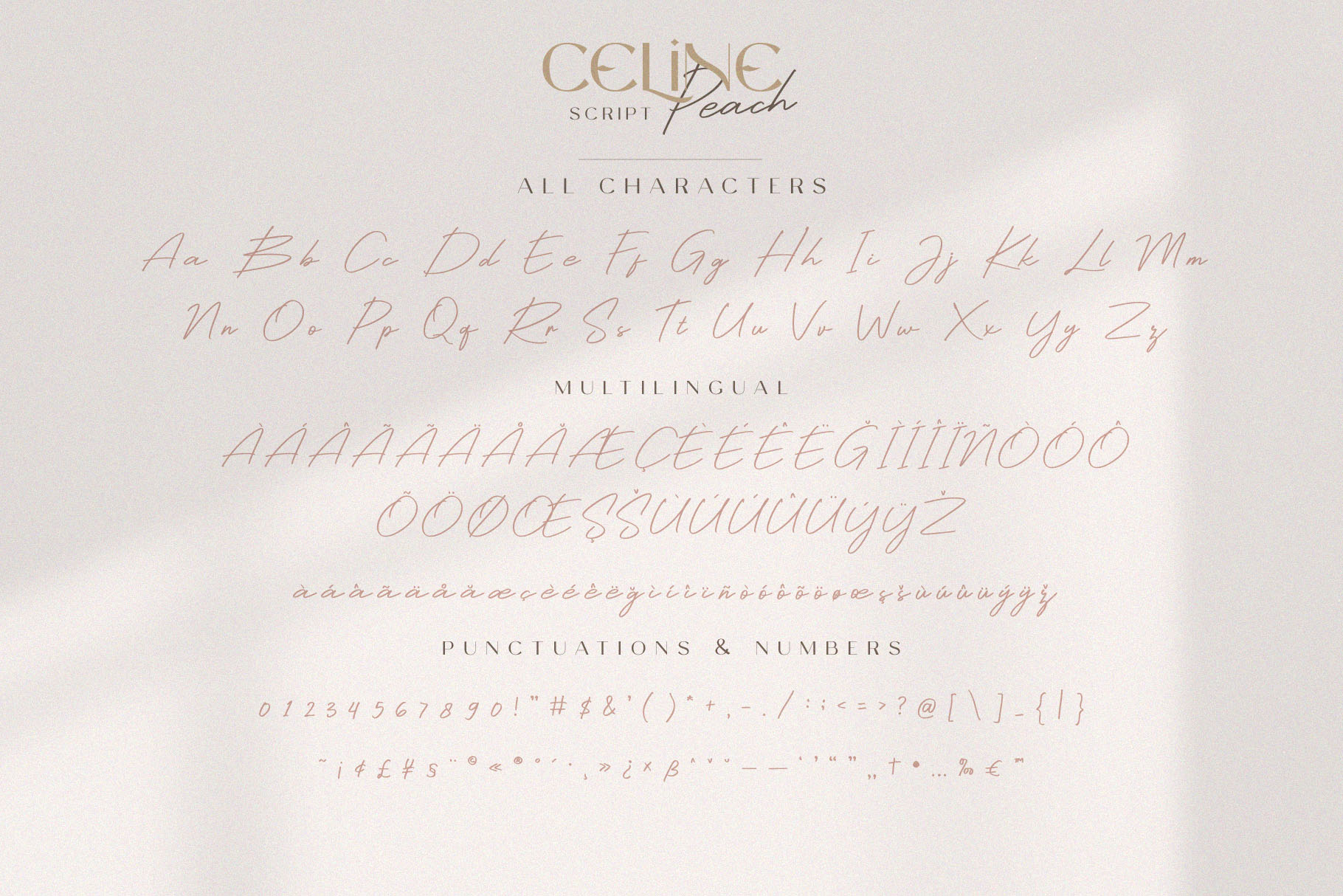 Celine Peach - A Luxury Font Duo example image 12