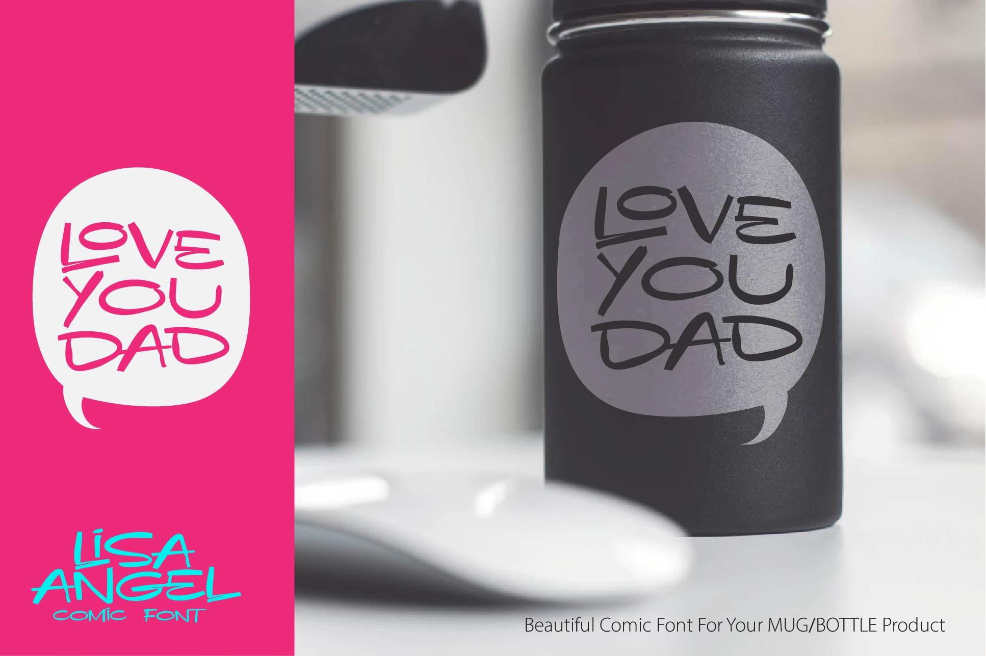LISA ANGEL - comic font example image 6