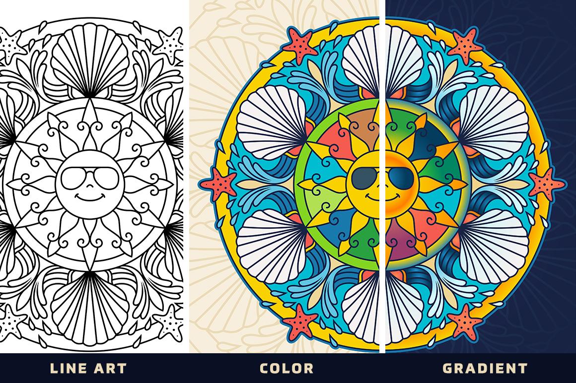 Seasonal and Holiday Mandalas example image 2