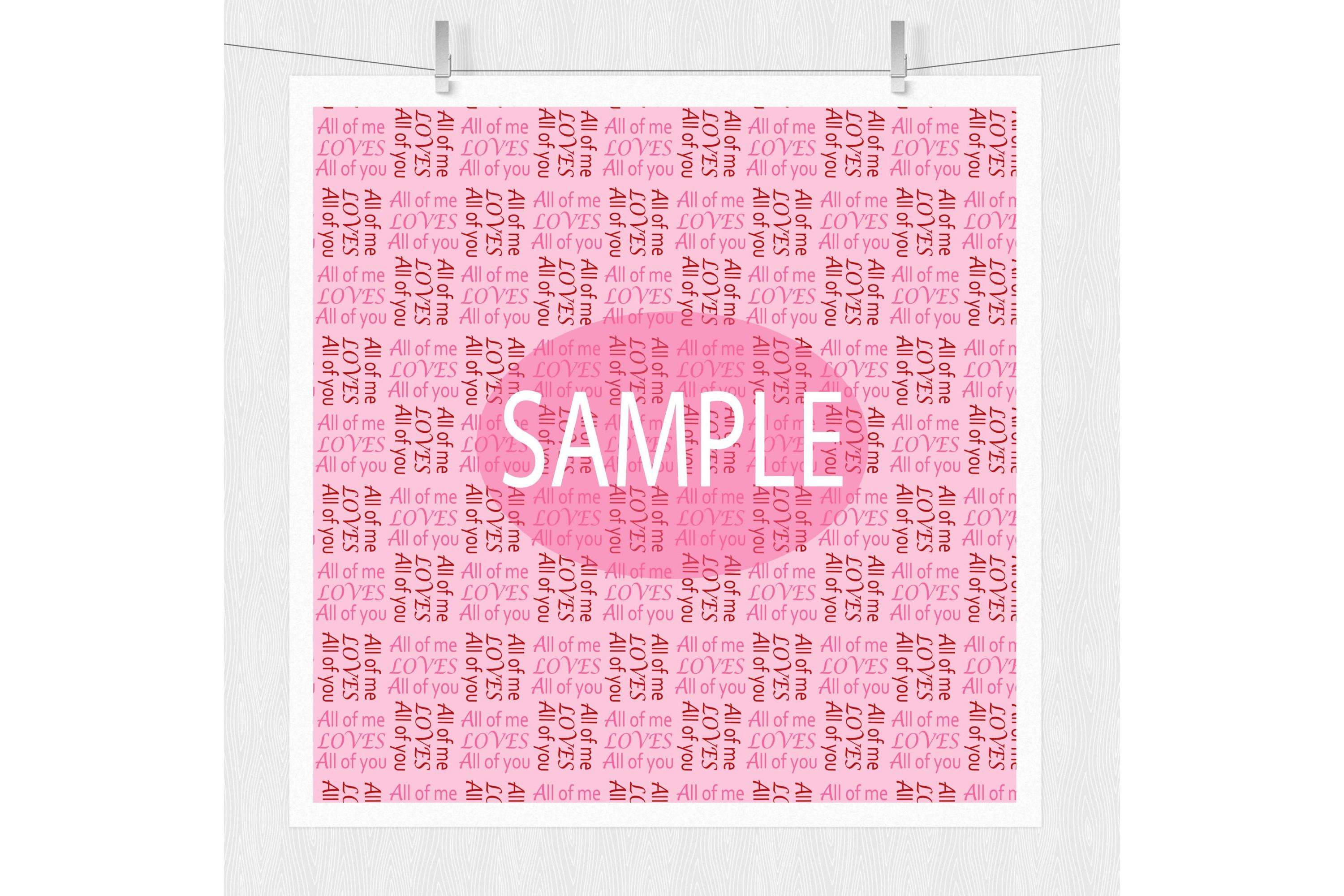 Valentine Digital Prints - Pink and Red Pattern Designs example image 4