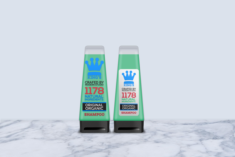 Hair and Body Shampoo Bottle Mock-Up example image 5