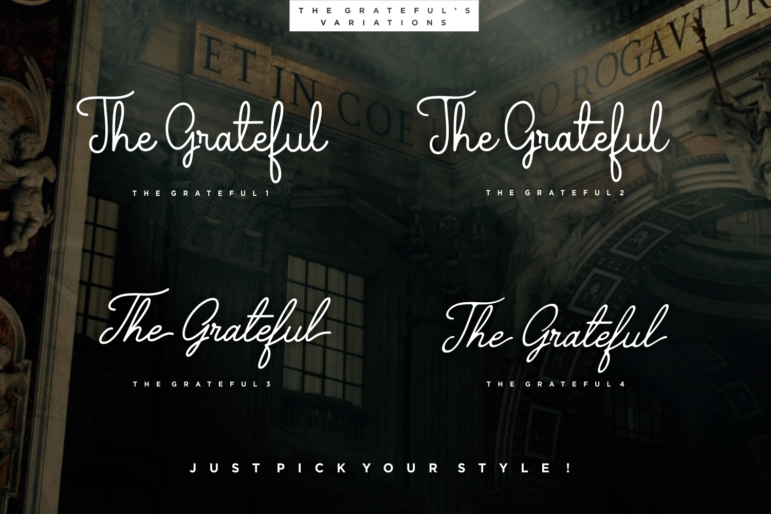 The Grateful Script | 4 Fonts example image 2