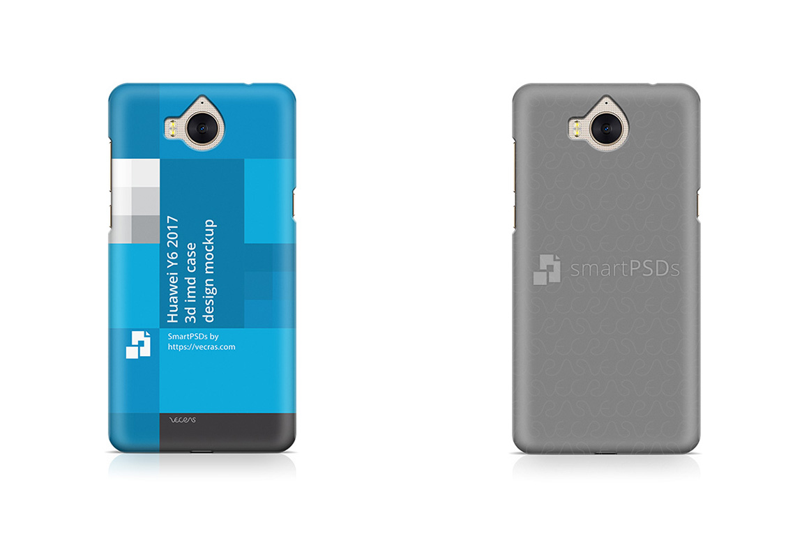 Huawei Y6 2017 3d IMD Mobile Case Design Mockup example image 1