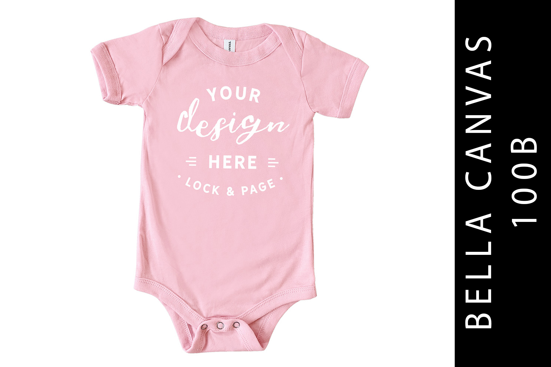 Baby Bella Canvas 100B Romper Mockup Suit Pink example image 1