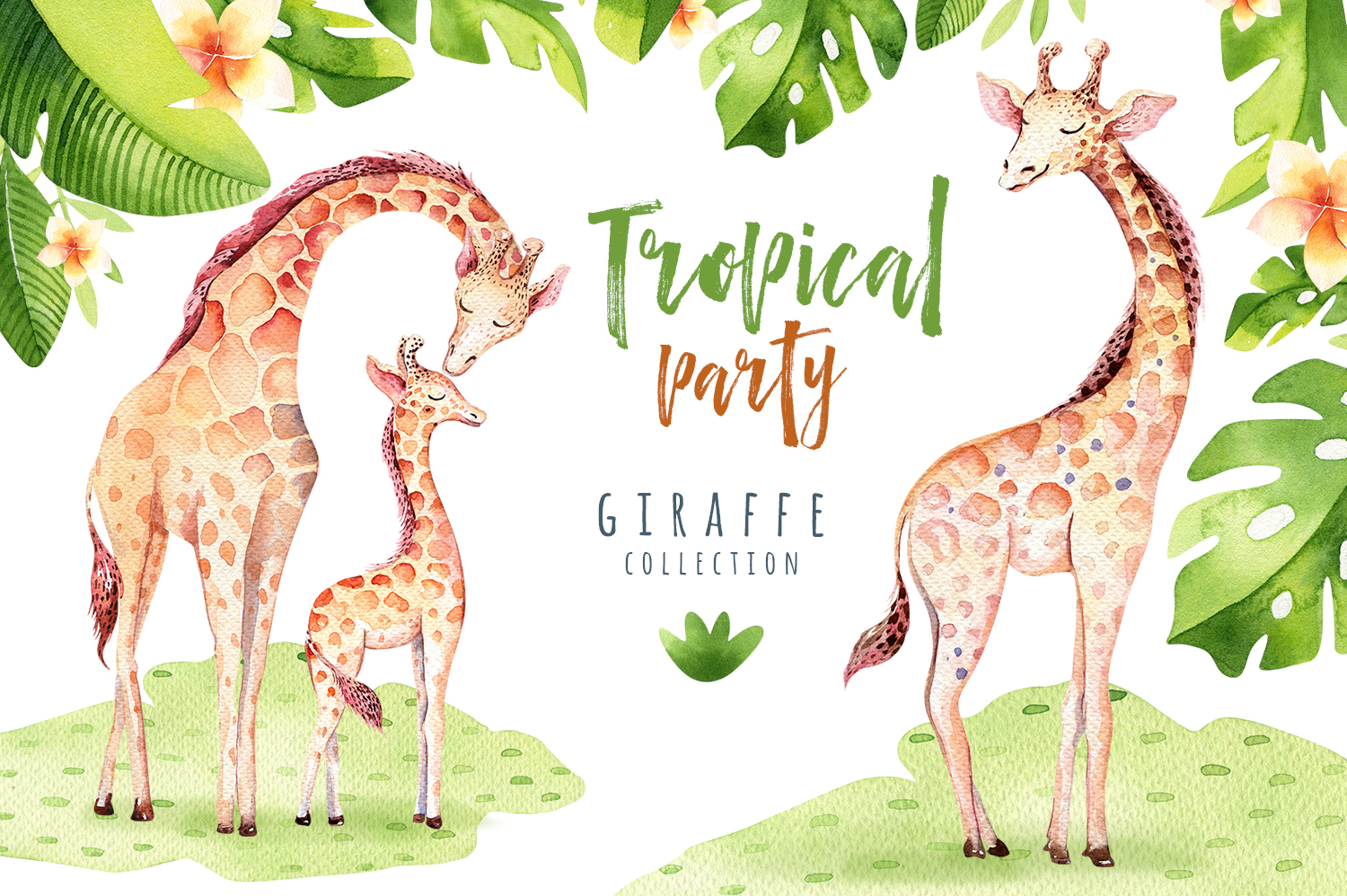 Giraffe collection. Tropical party example image 2