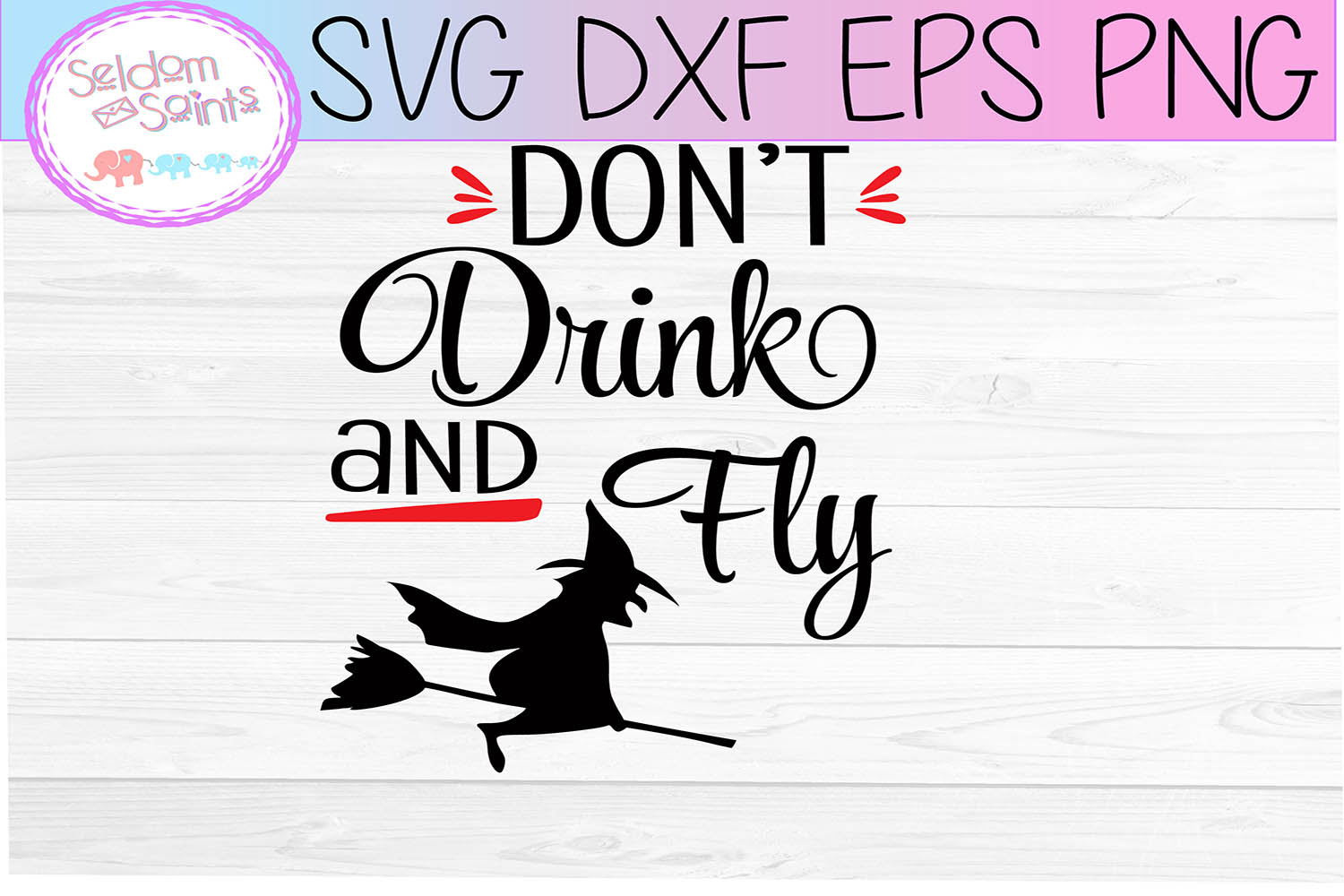 Don't Drink and Fly SVG PNG DXF EPS Cricut Cut File example image 2