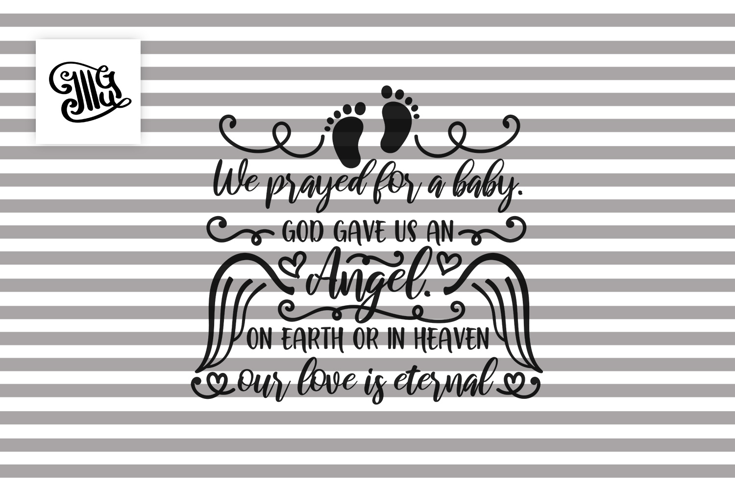 We prayed for a baby - Child memorial example image 2