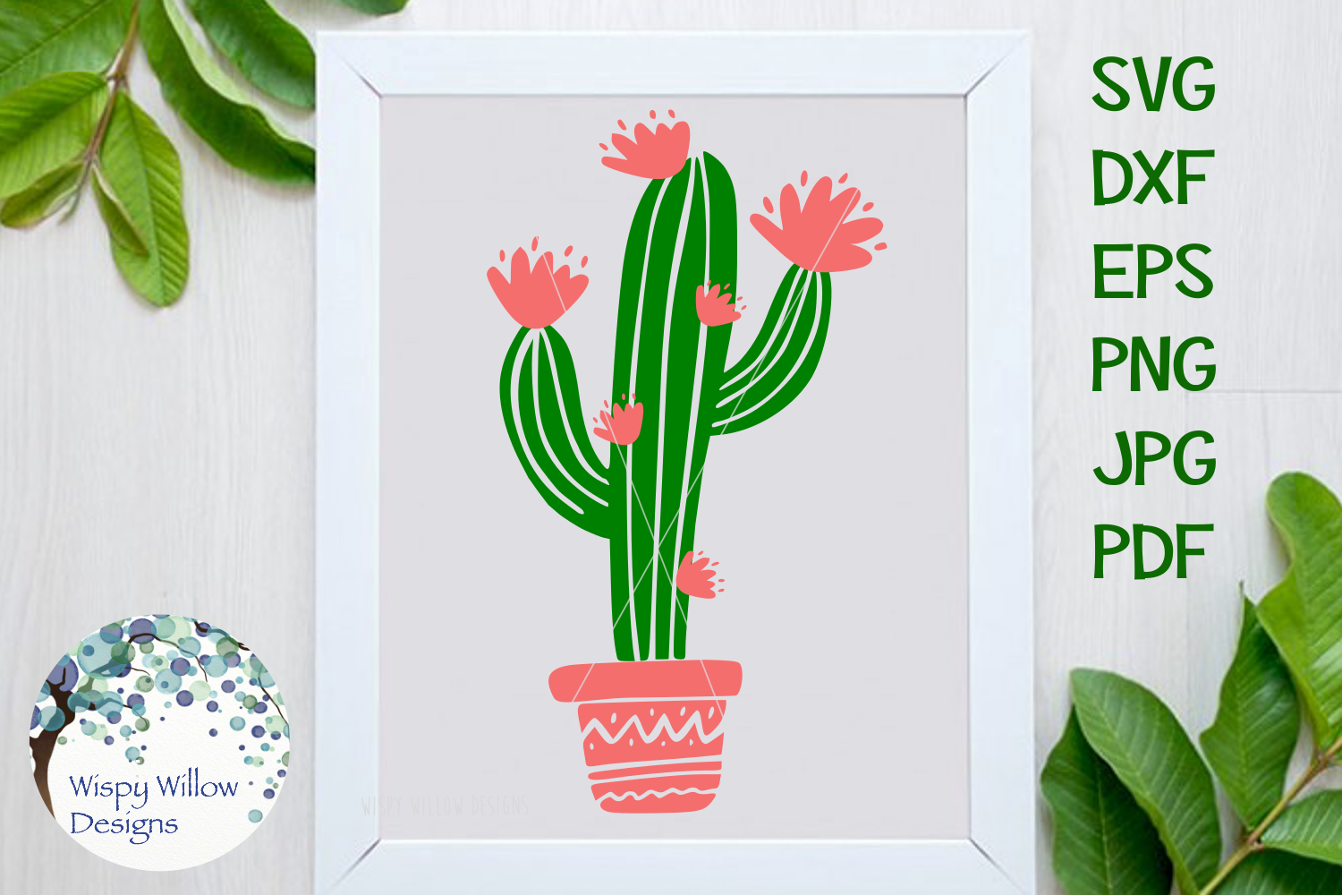 Floral Blooming Cactus | Summer SVG Cut File example image 1