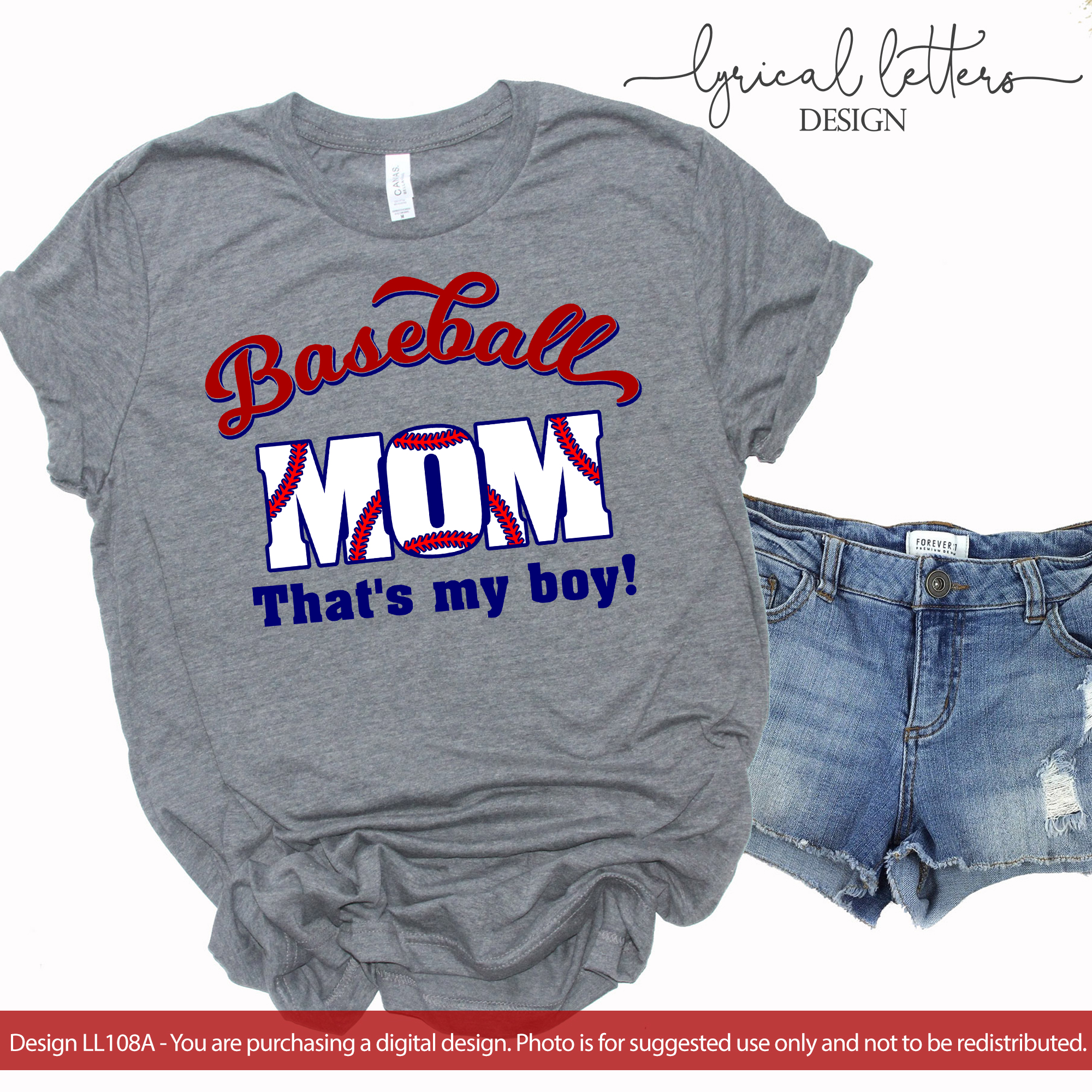 Baseball Mom That's My Boy SVG DXF Cut File LL108A example image 2