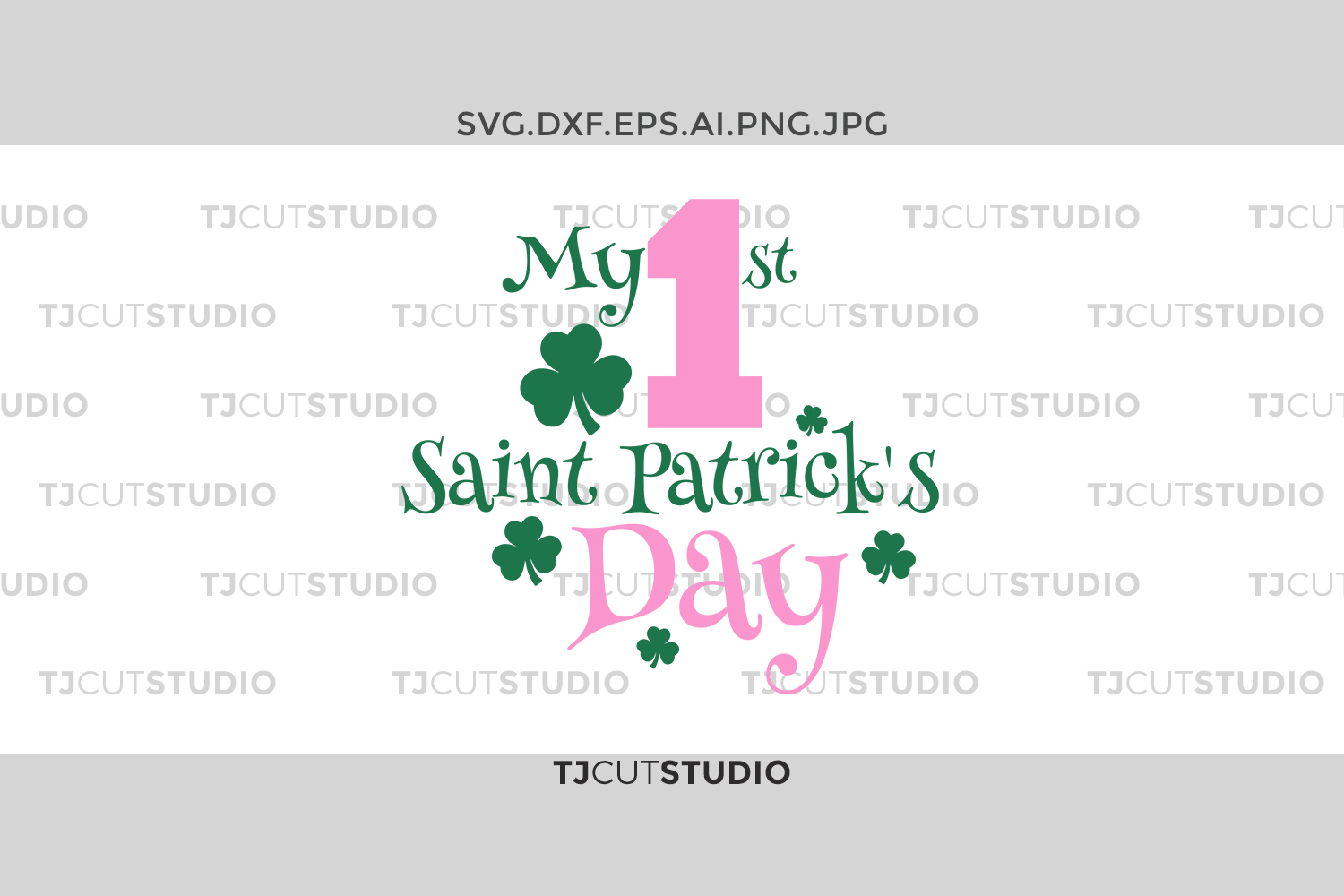 My first st patrick svg, my first st patricks girl, boy, Svg Files for Silhouette Cameo or Cricut, Commercial & Personal Use. example image 1