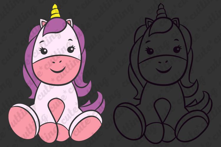 Unicorn svg, Baby unicorn svg, cutting file svg, dxf, png example image 3