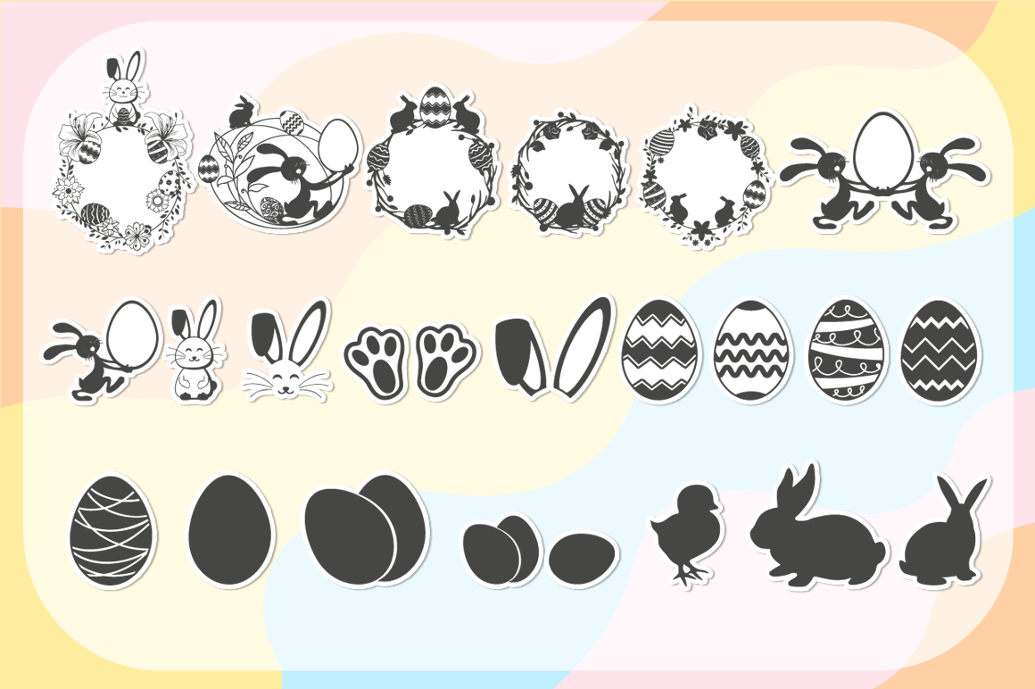 Easter SVG Mega Bundle - SVG Cut Files & Alphabets example image 2
