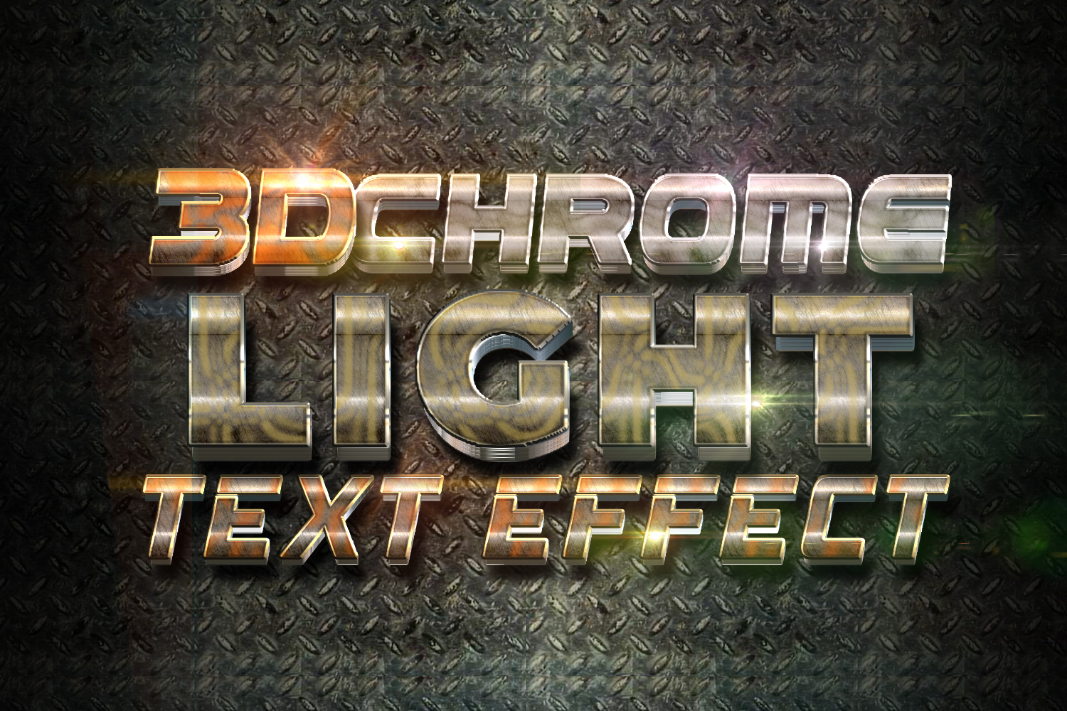 3D Chrome Light Text Effect example image 1