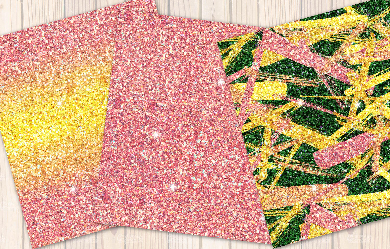 Lemon seamless Glitter backgrounds example image 5