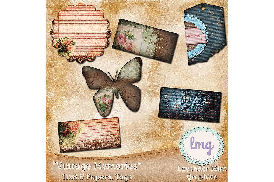 Vintage Memories Journal Papers 11x8.5 example image 2