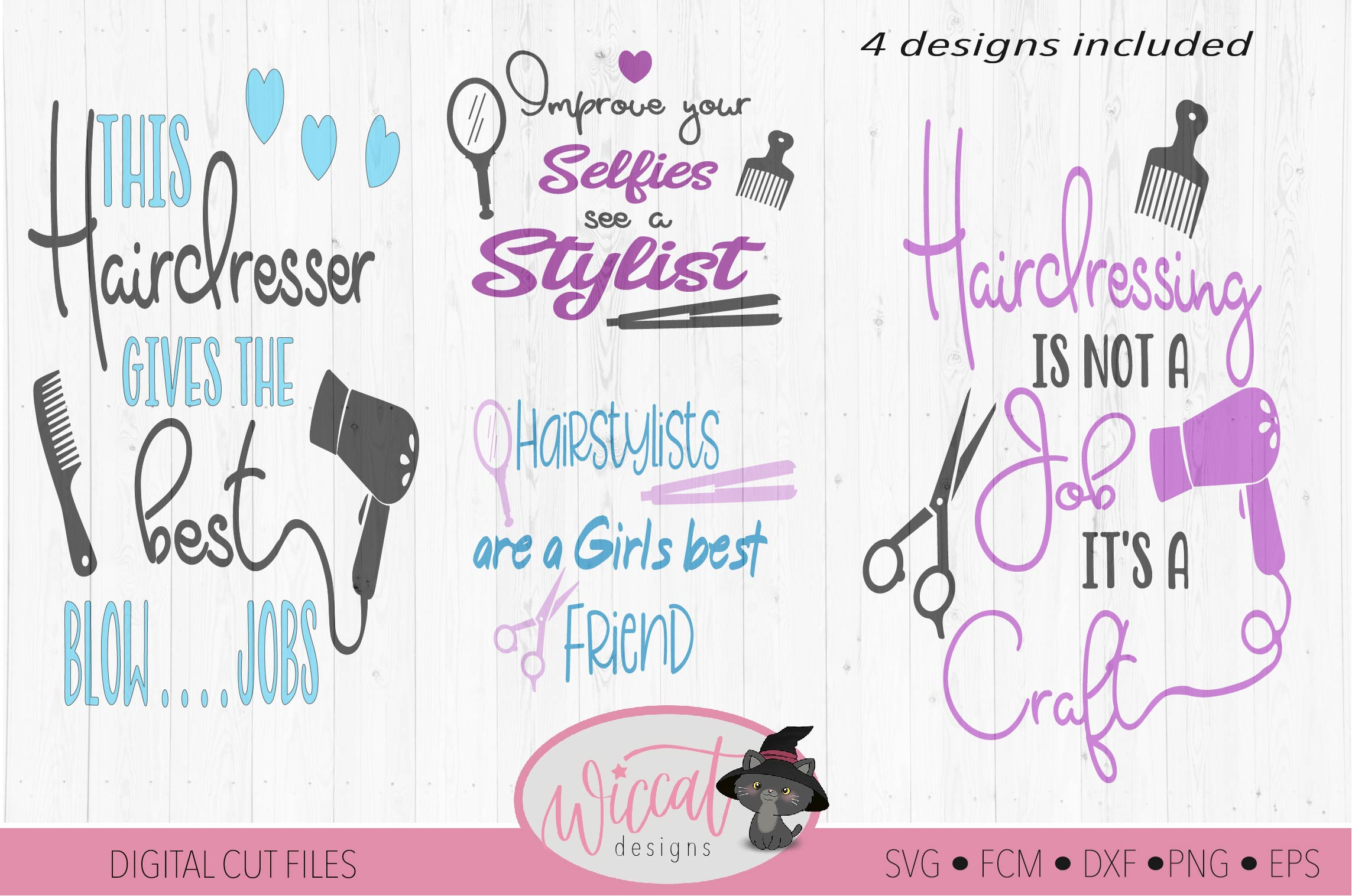 Hairstylist quote bundle, Hairdresser pun, Stylist word art example image 1