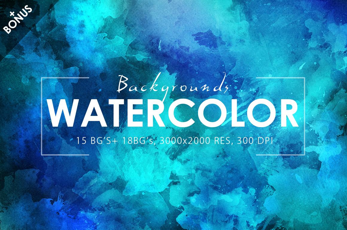Watercolor Backgrounds 2 & Bonus example image 3