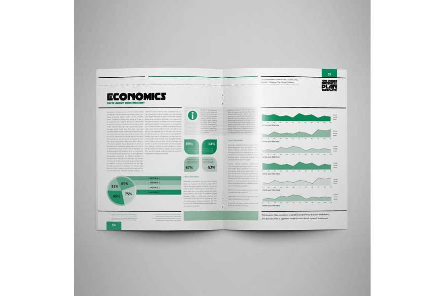 100 Pages Us Letter Business Plan example image 2