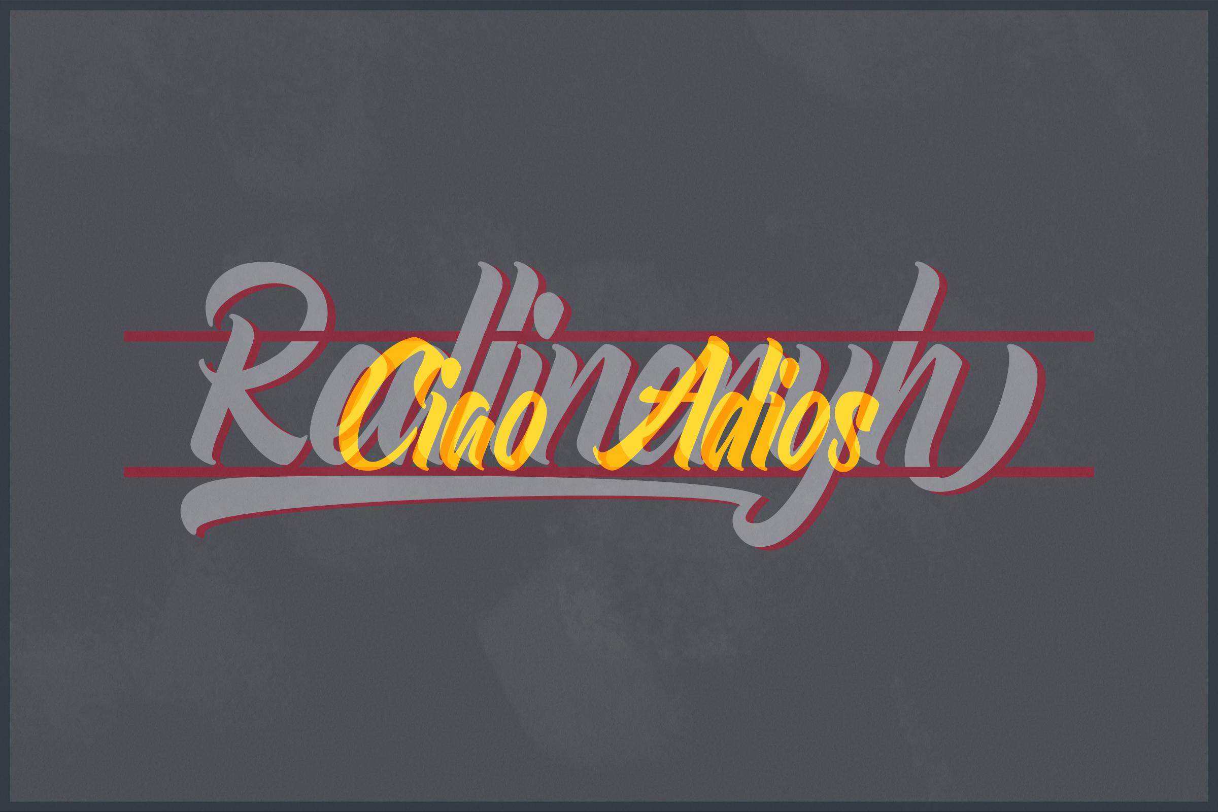 Redlineryh Typeface I EXTENDED LICENSE example image 5