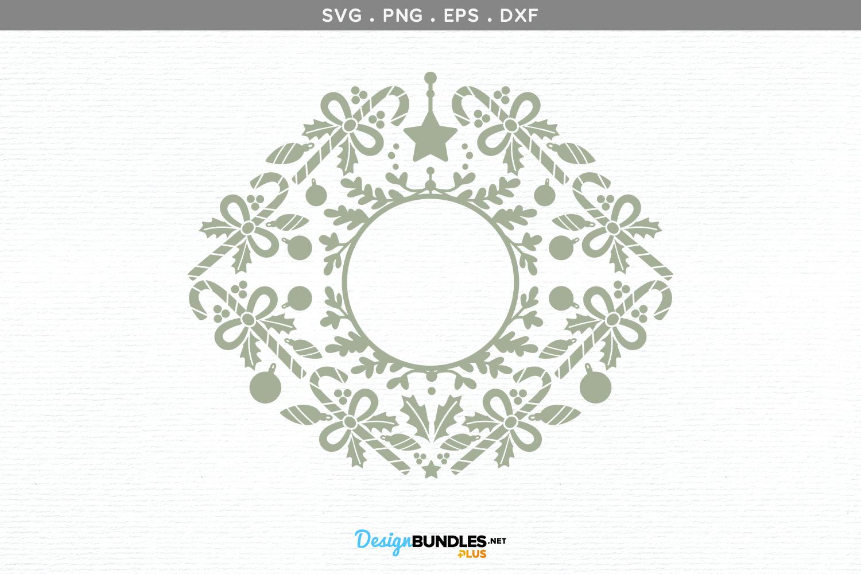 Christmas monogram frame II - svg, printable example image 2