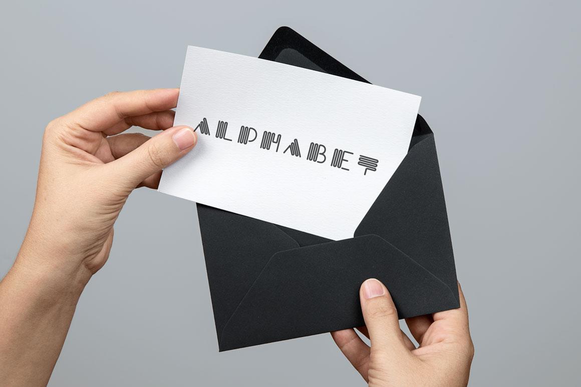 Alphabet set - creative font example image 4