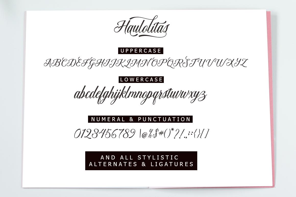 Haulolitas Script example image 9
