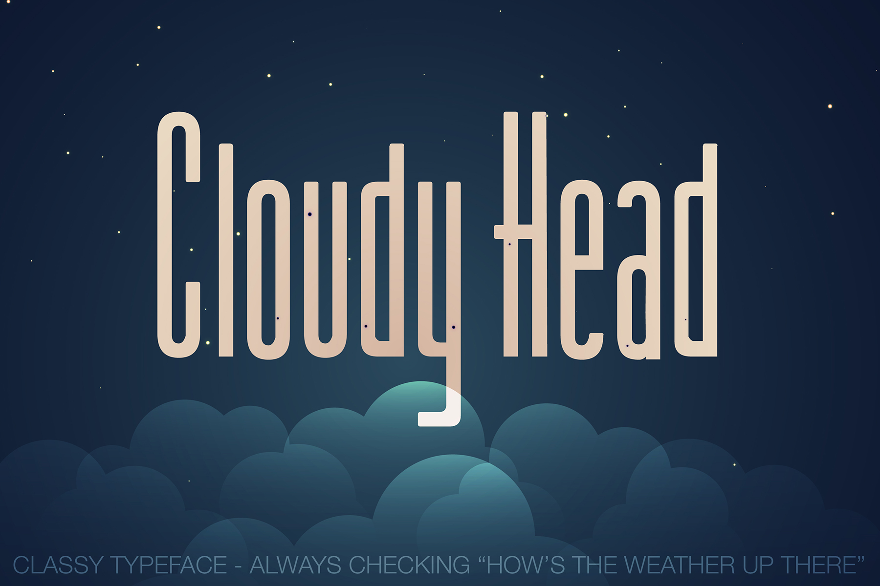 Cloudy Head Regular - Tall Font, Classy Typeface example image 1