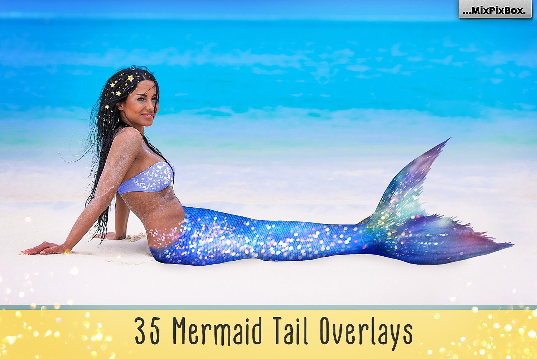 35 Mermaid Tail Overlays example image 1
