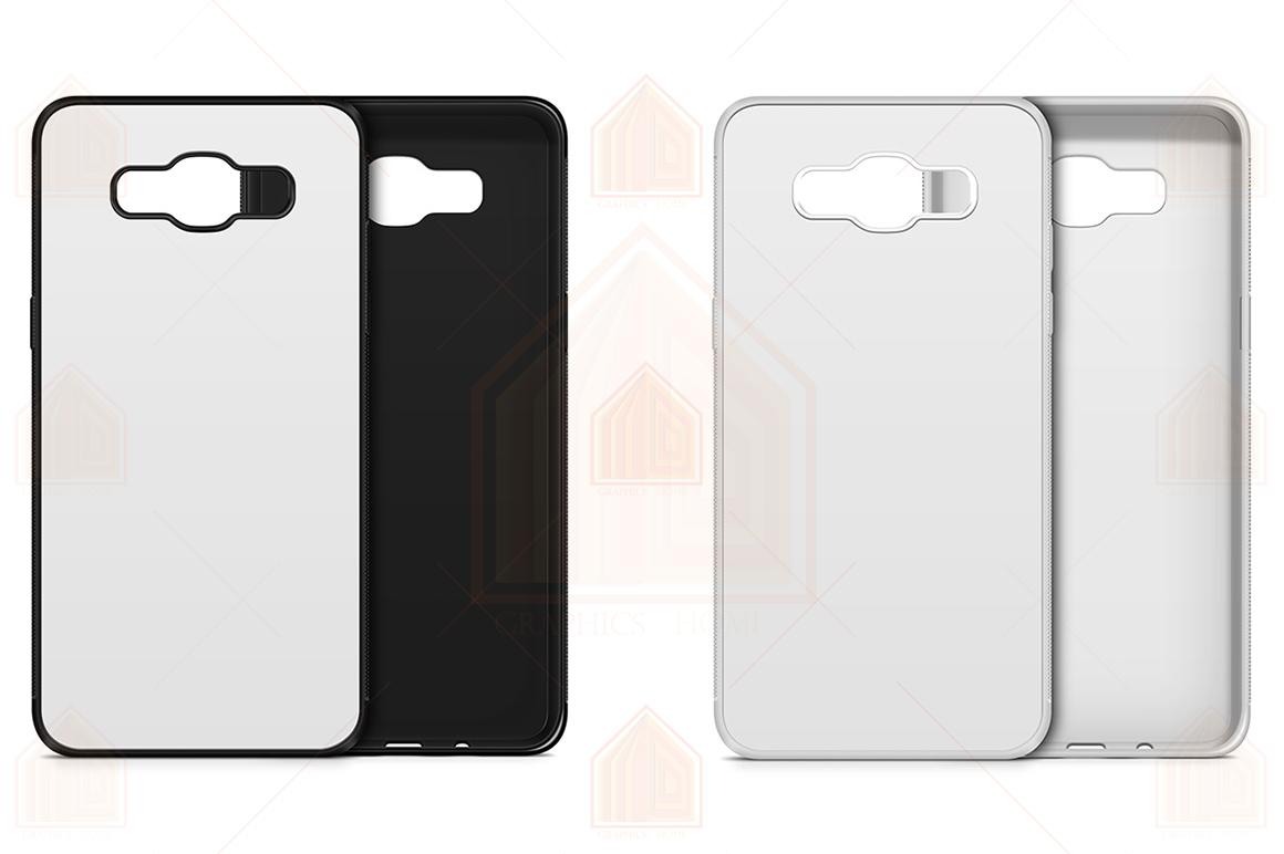 Galaxy J7 2016 2d RubberFlex Case Design Mockup Back-Front example image 2