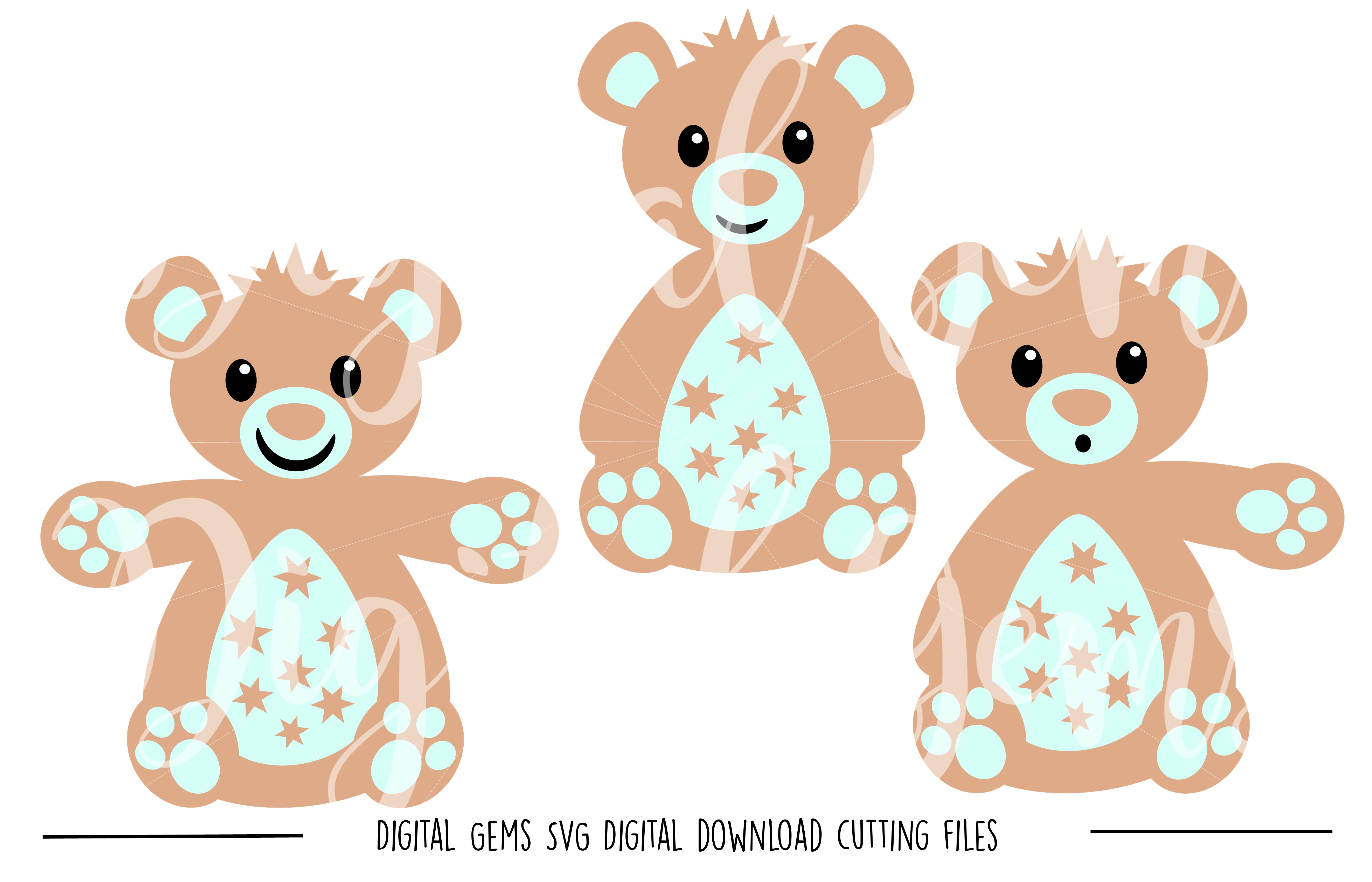 Teddy Bear SVG / PNG Files example image 1
