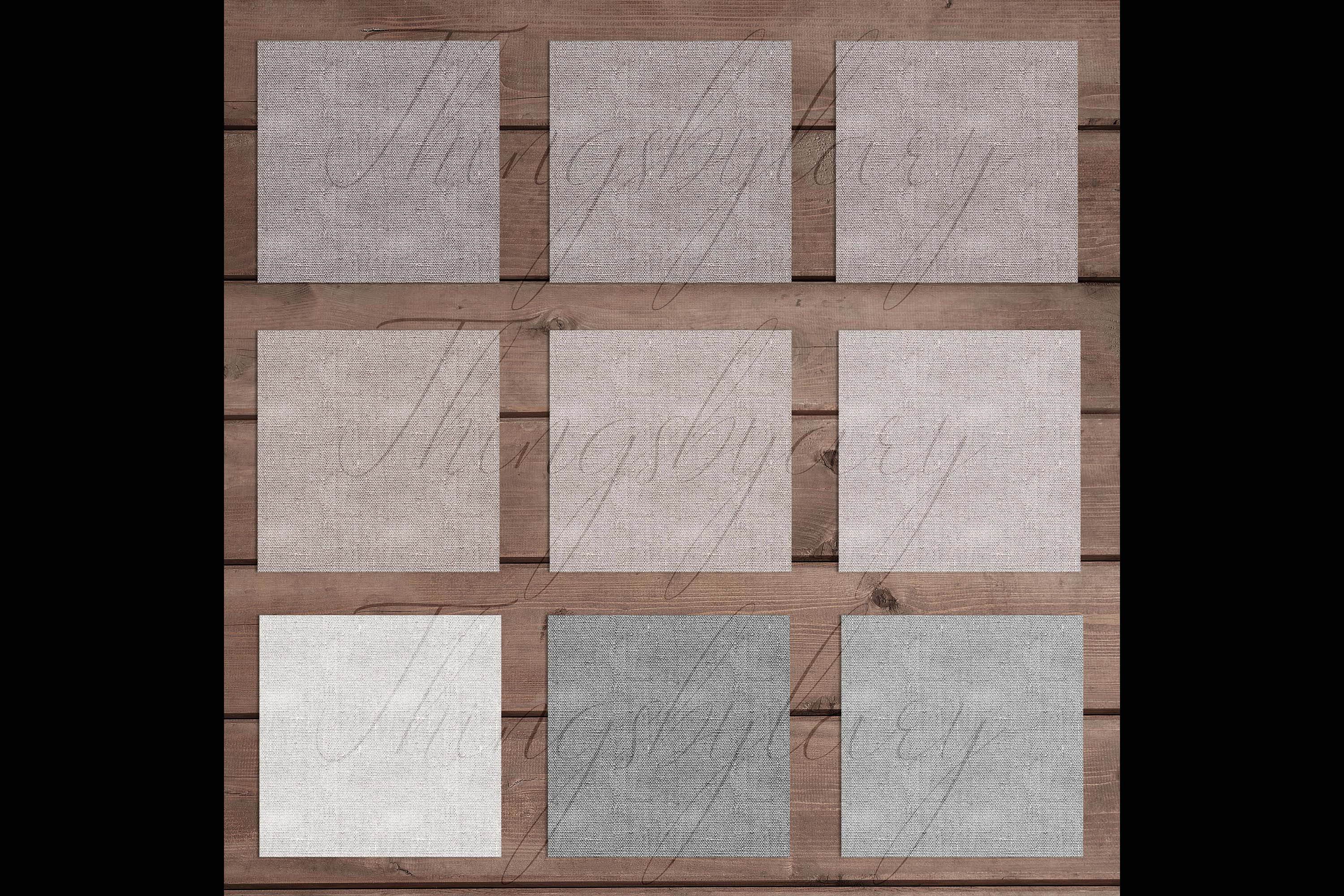 18 Seamless Realistic Neural Linen Burlap Digital Papers example image 10