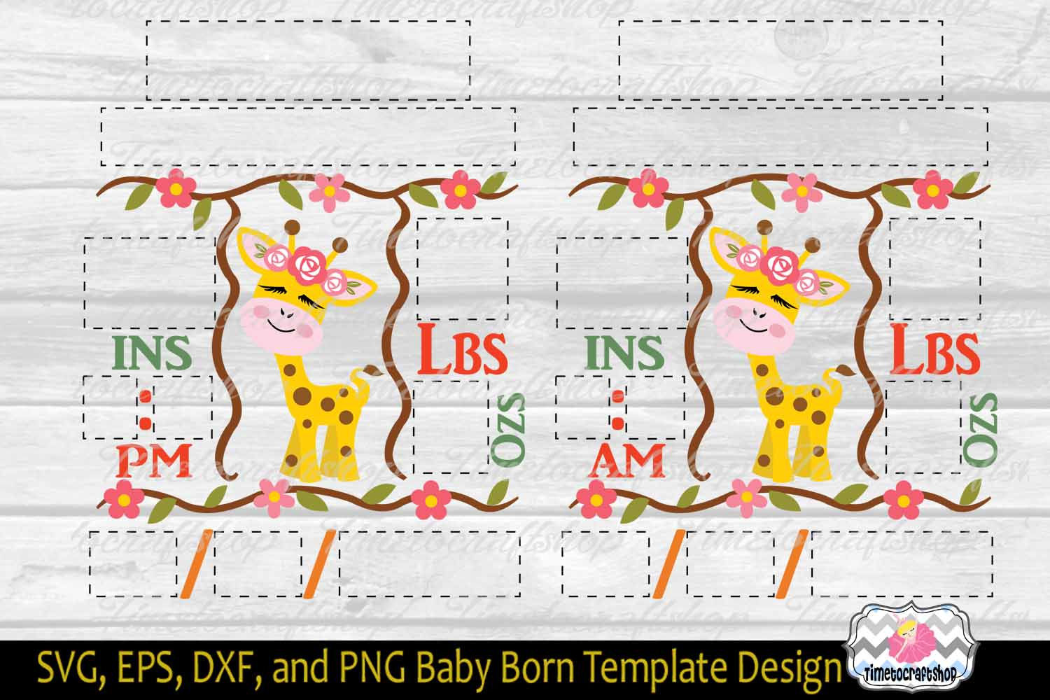 3 sizes Baby Born Announcement Embroidery Template example image 2