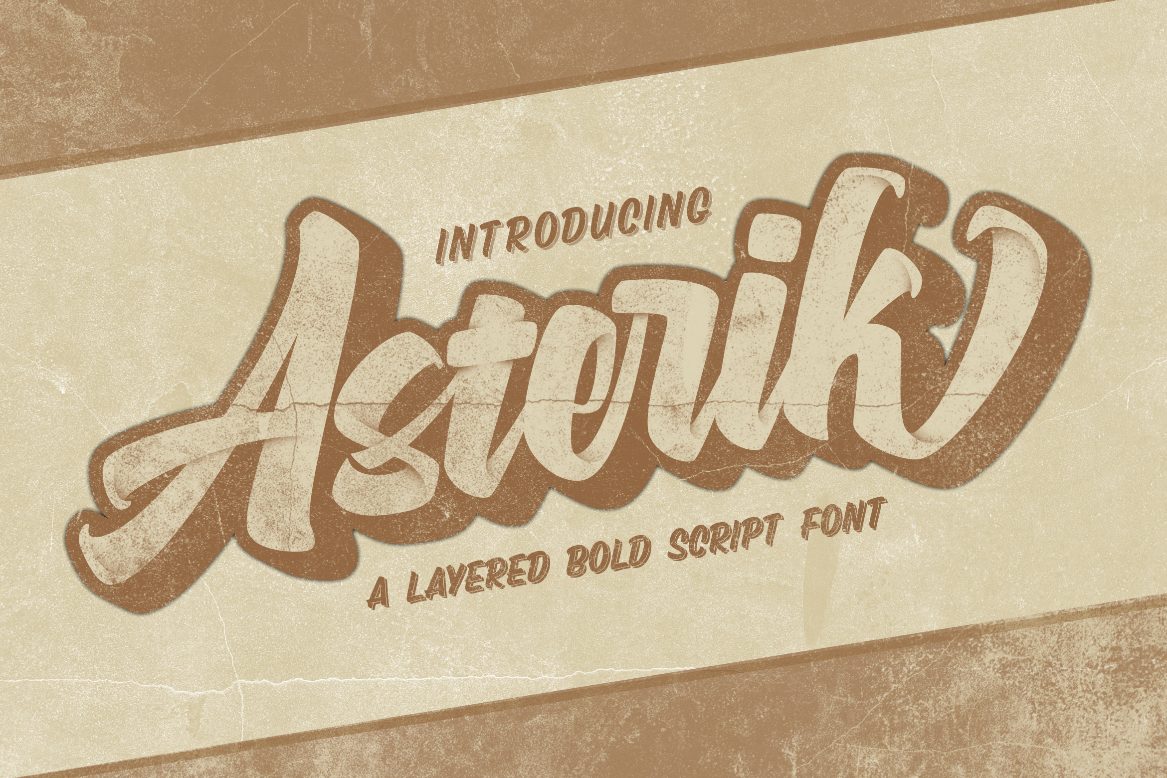ASTERIK || Layered Bold Script example image 1