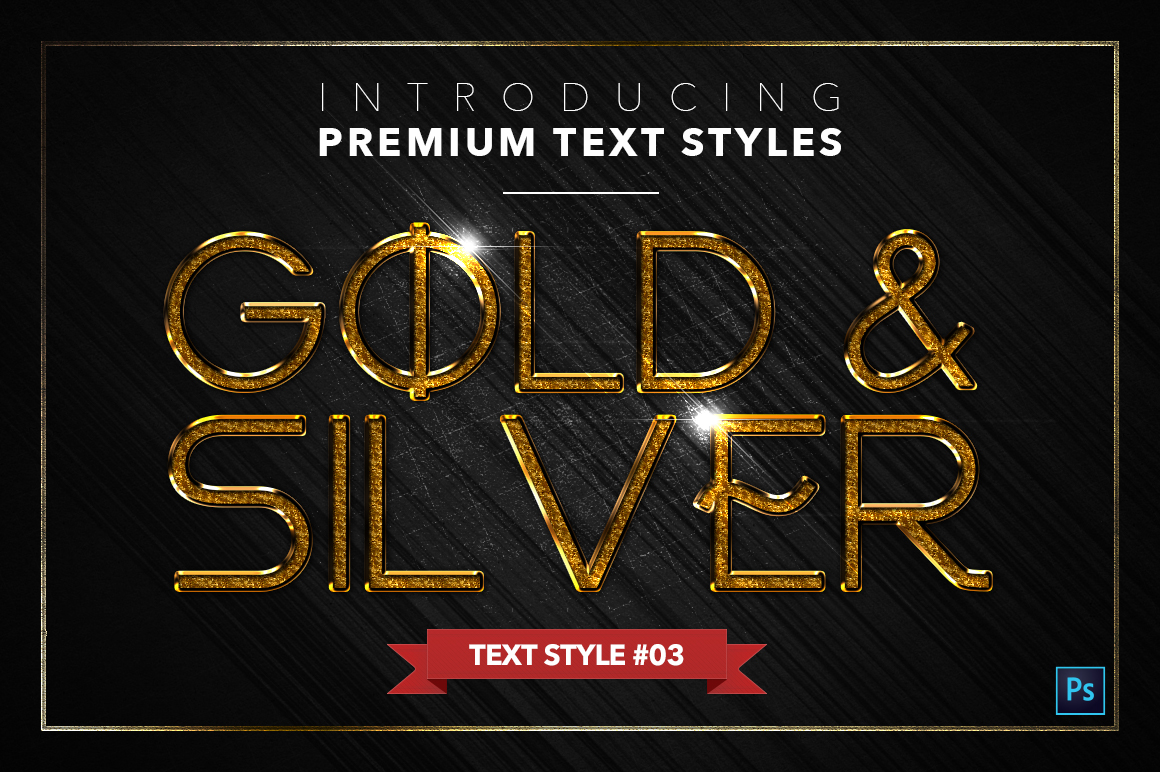 Gold & Silver #5 - 15 Text Styles example image 4