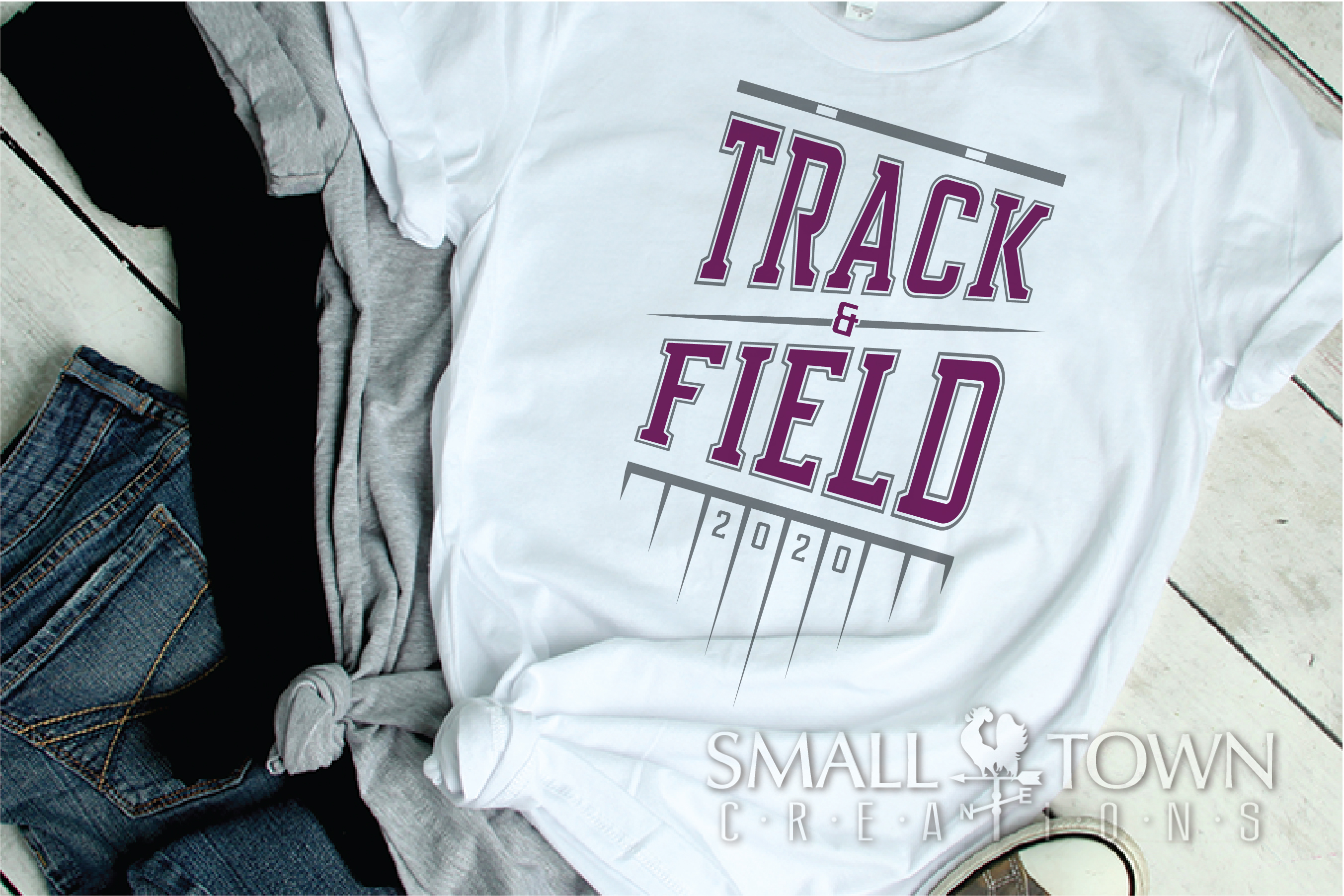 Track & Field, Track Team, Sport, Logo, PRINT, CUT & DESIGN example image 2