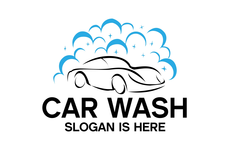 Car Wash Logo,Washing and Service Logo Design example image 1
