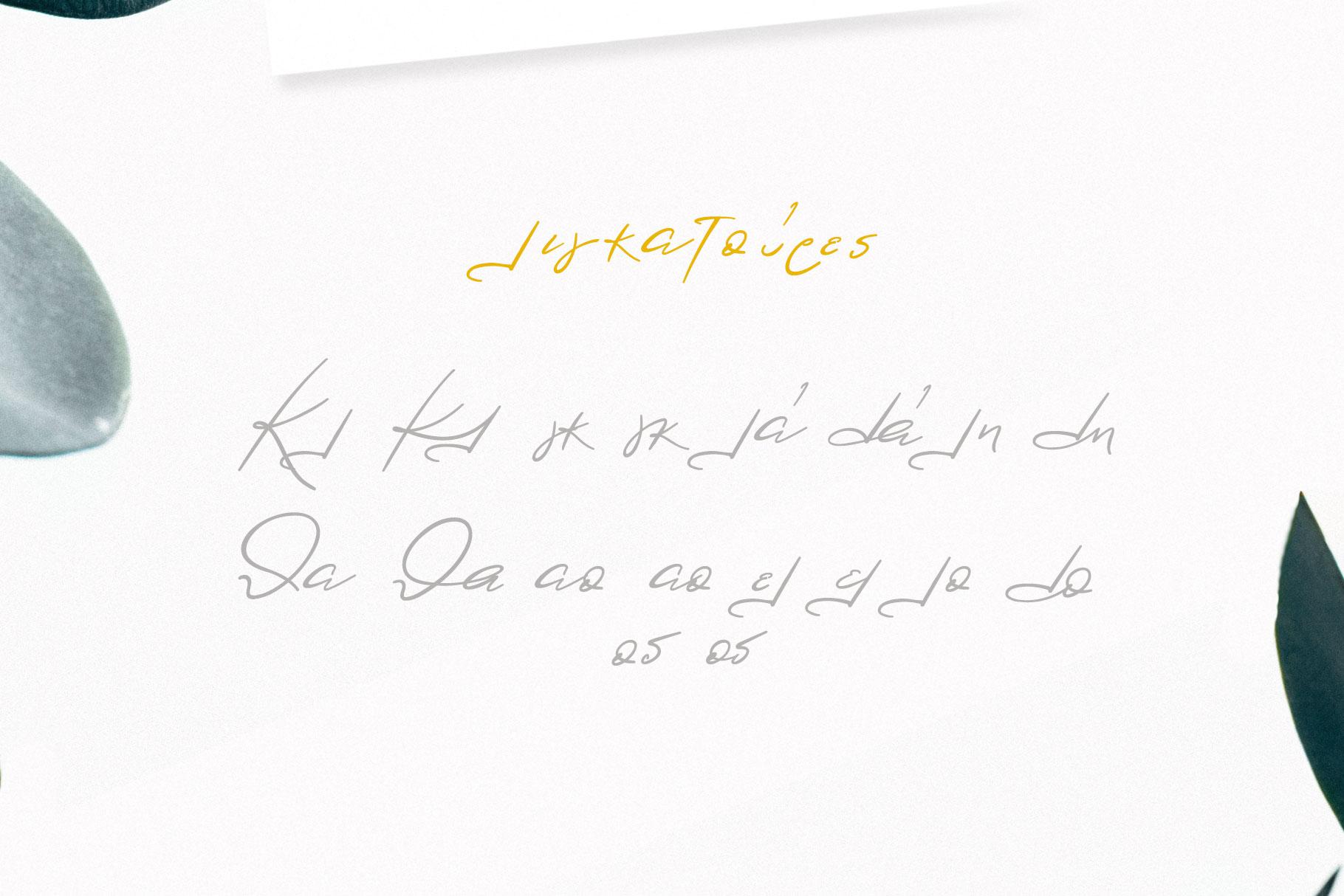 Lolotte Multilingual Signature Font example image 6