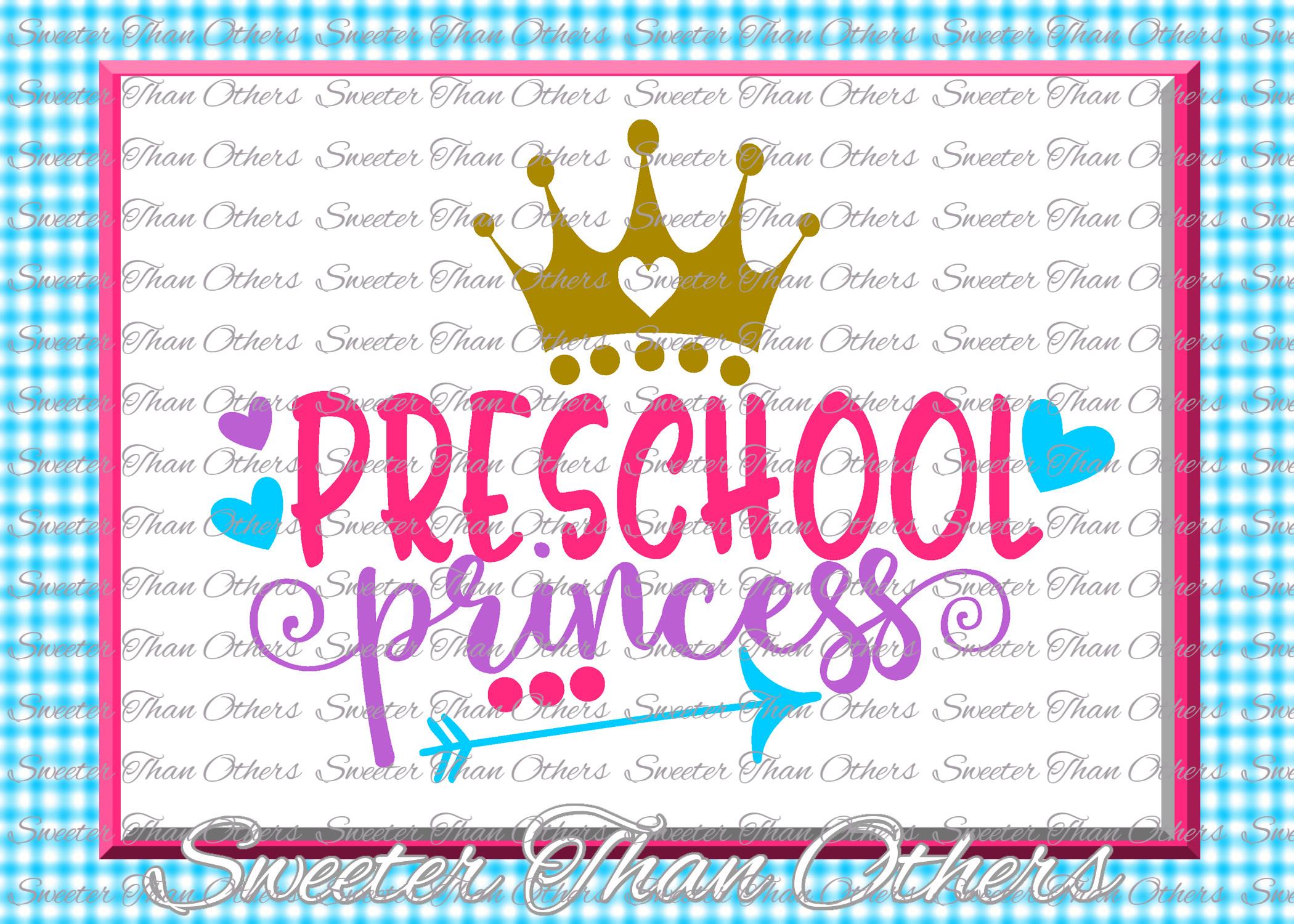 School Princess SVG Bundle Kindergarten First Day of School example image 11