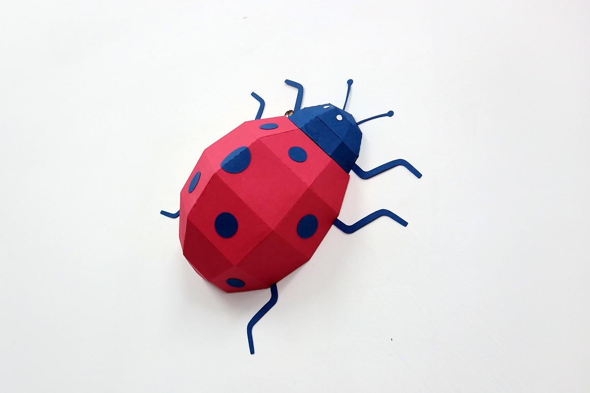 DIY Papercraft Ladybug,Lady bug,Lady beetle,Ladybug svg,dxf example image 6