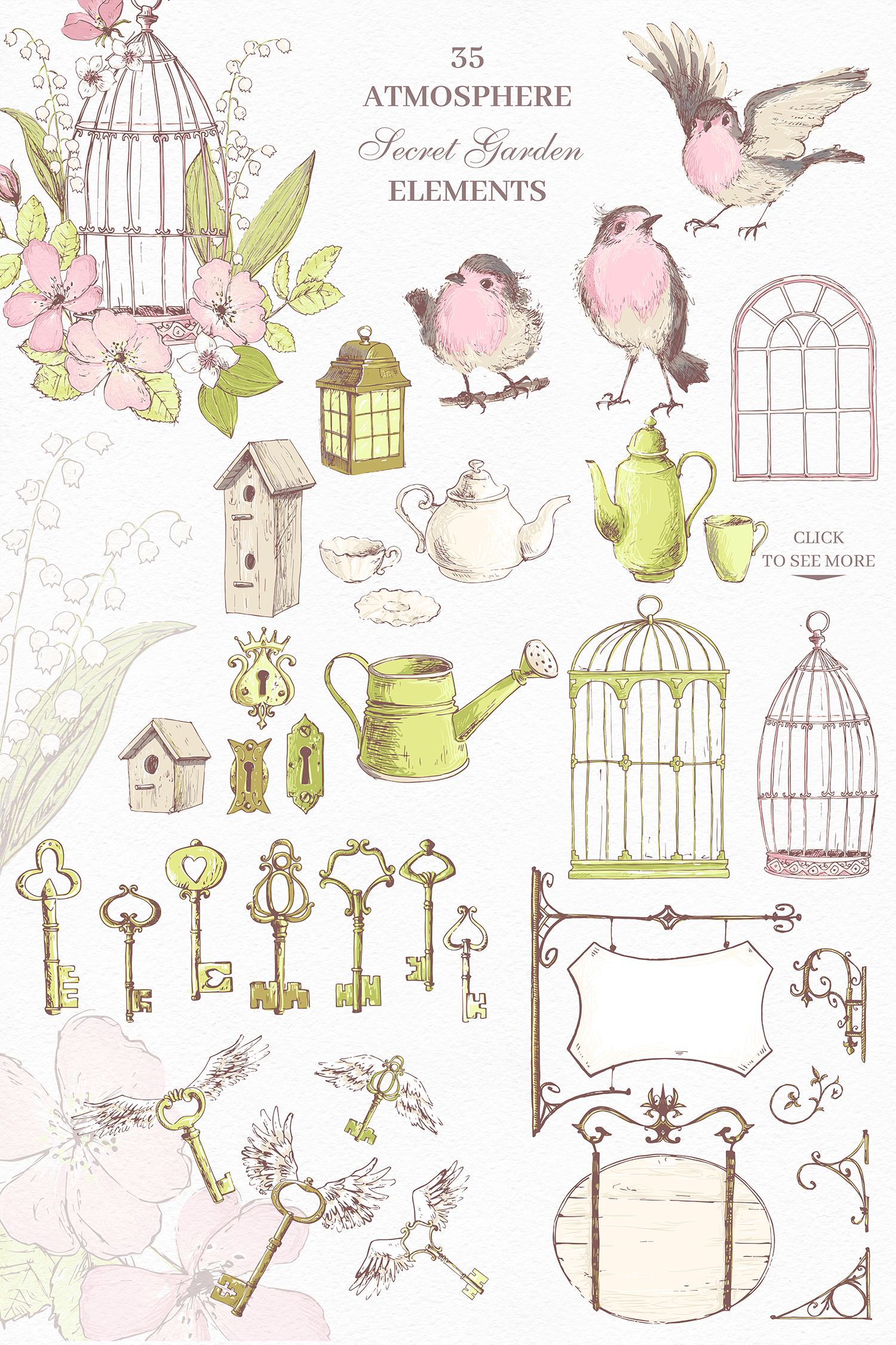 Secret Garden graphic kit example image 6