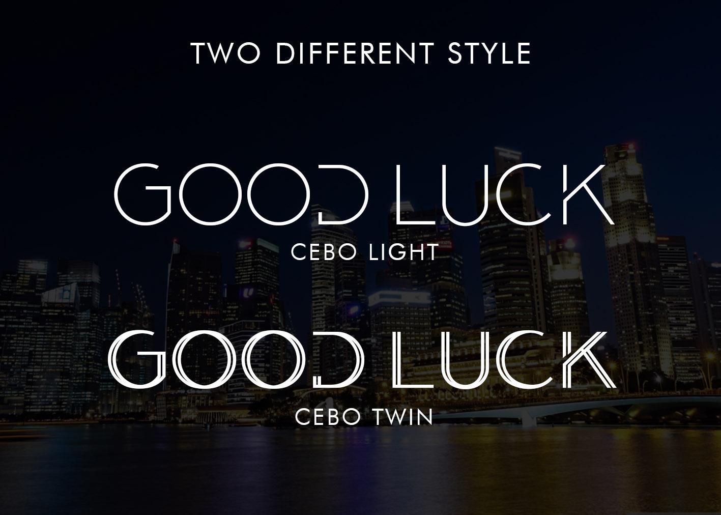 Cebo Typeface example image 4