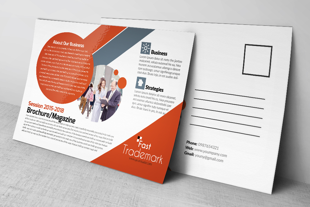 Latest  Business Postcards Templates example image 2