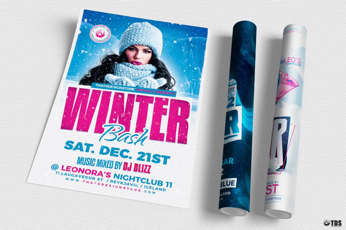 Winter Bash Flyer Bundle example image 6